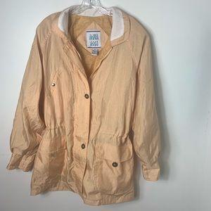 Vintage aqua togs cinch waist windbreaker/ jacket